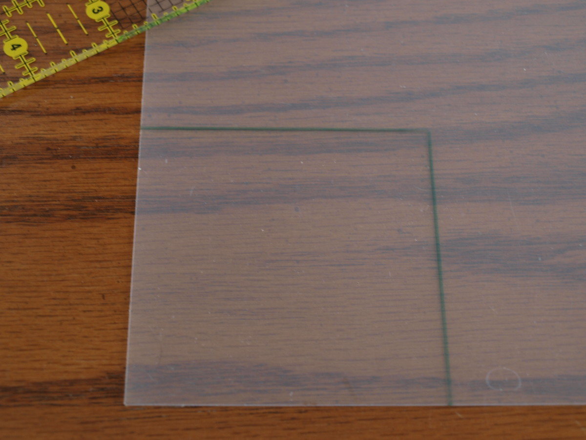 Photo 1 - Draw the standard shape on template plastic in the finished (size after sewn) size you want.
