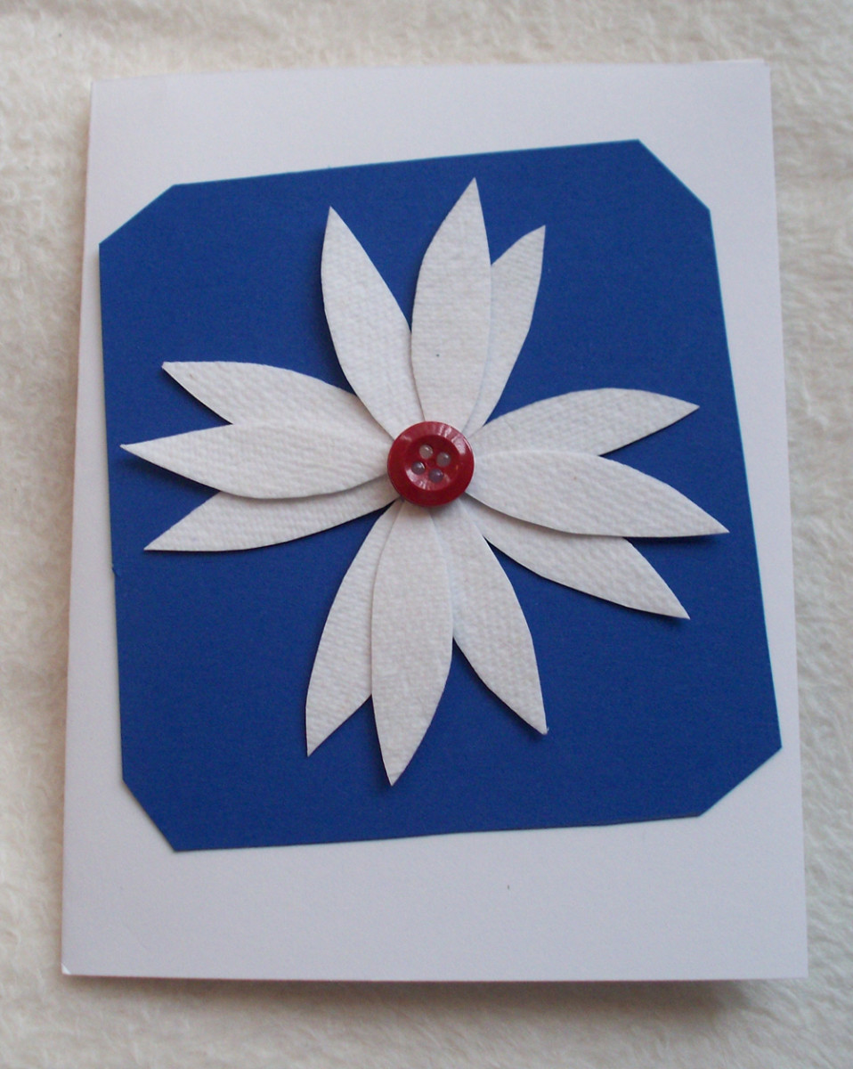 Paper towel greeting cards feltmagnet it is super easy to make these greeting cards and a really fun activity for young and old i love the extra texture that the paper towel adds to the flower m4hsunfo