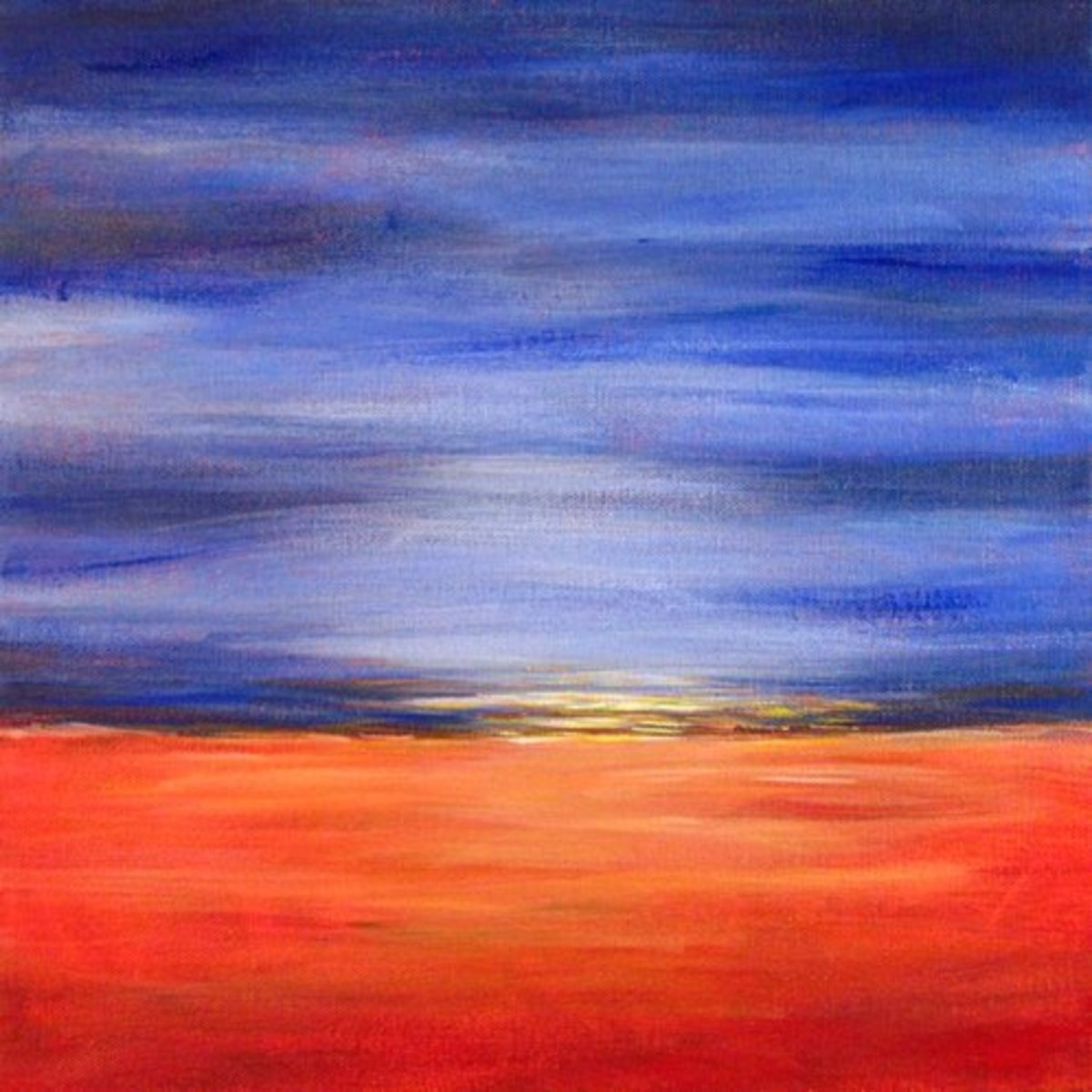 Easy acrylic painting ideas abstract landscape for Simple scenery paintings