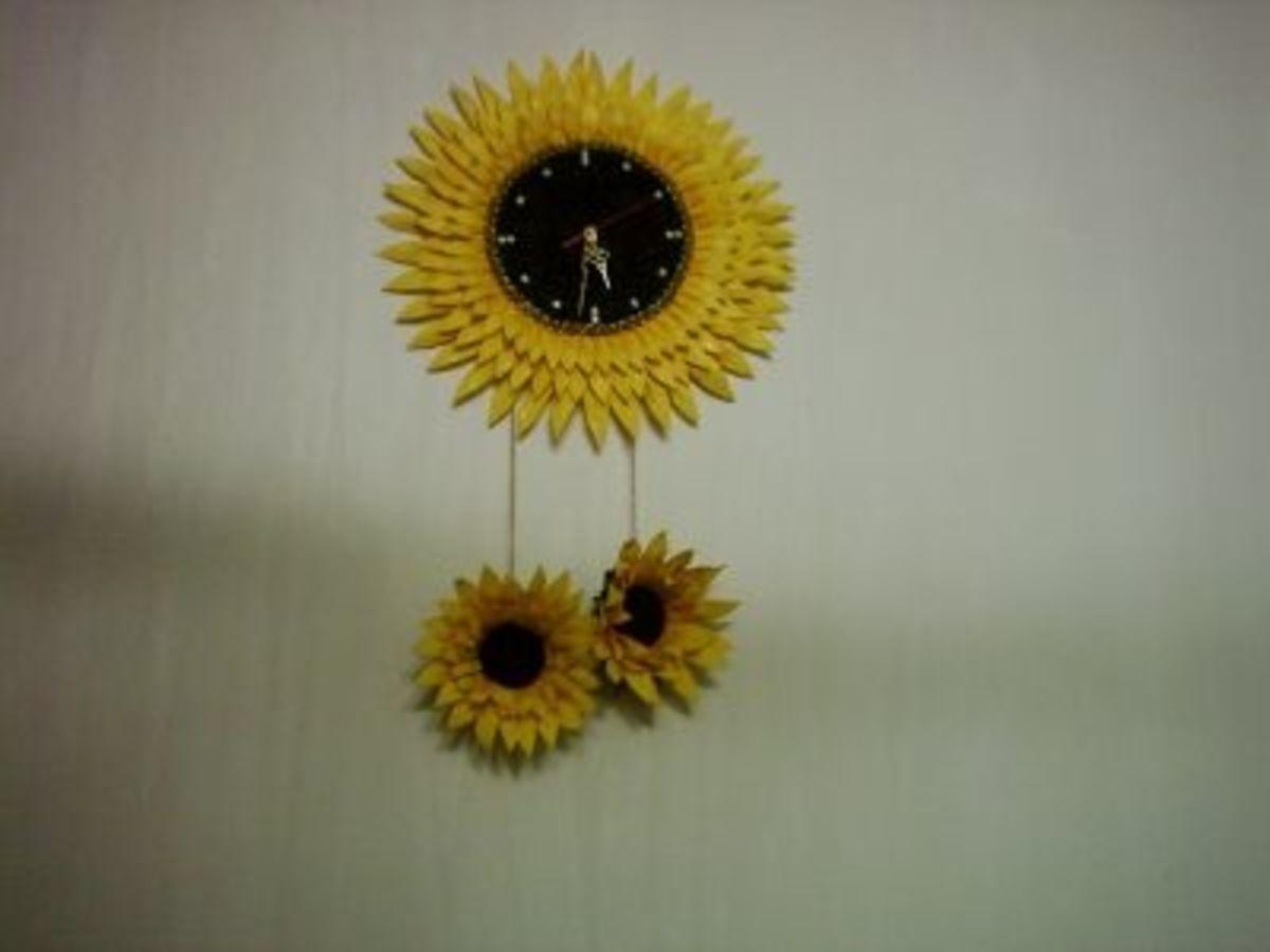 Sunflower clock.