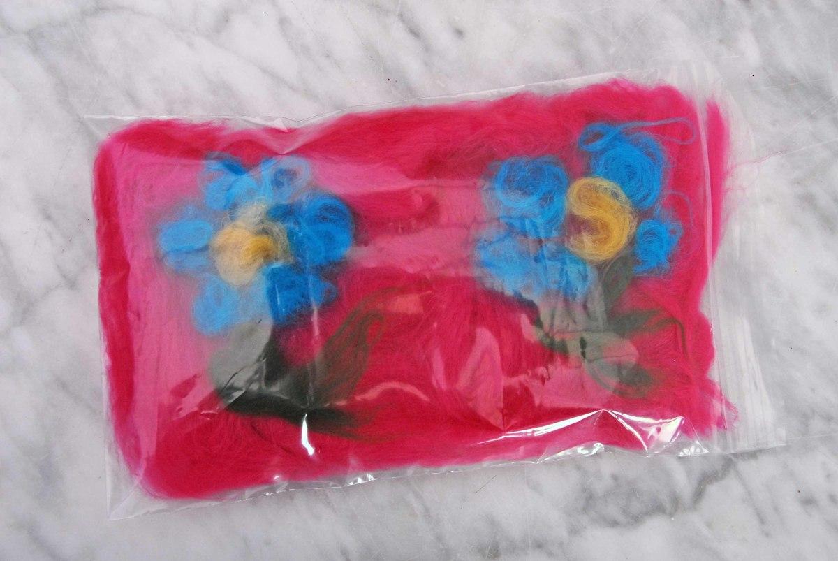 Fibers shown now inside the Jiffy Bag