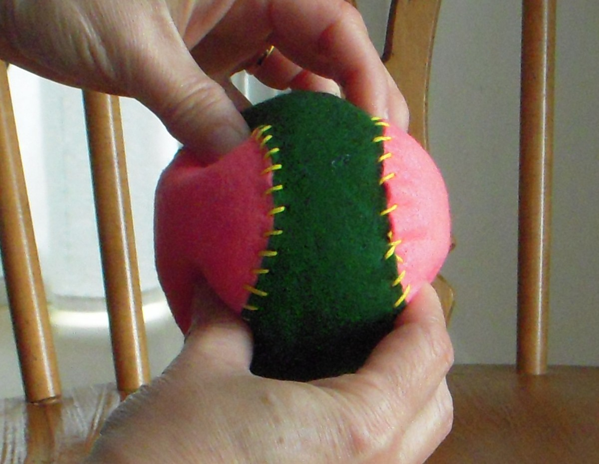 Shape ball when done to give it a more rounded shape.