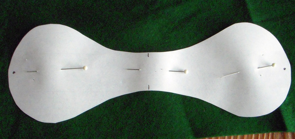 Cut one piece from green fabric