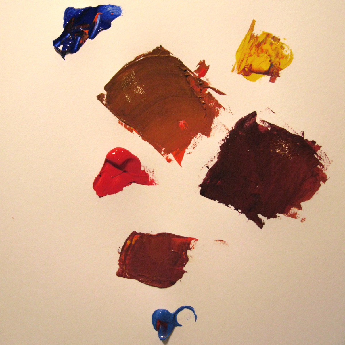 I made yet another orange and added Cerulean Blue Chromium. I got a nice brown with a nice warm hue.