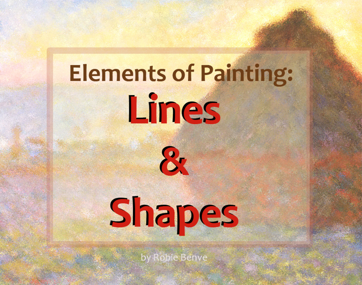 Lines and shapes are essential elements of painting. How you use them in art strongly affects the composition and overall feeling of the painting.