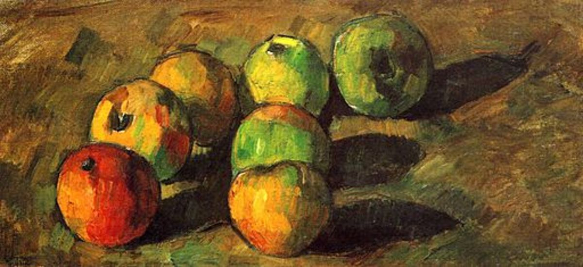 Great use of line and shape composition in this still life by Paul Cézanne.