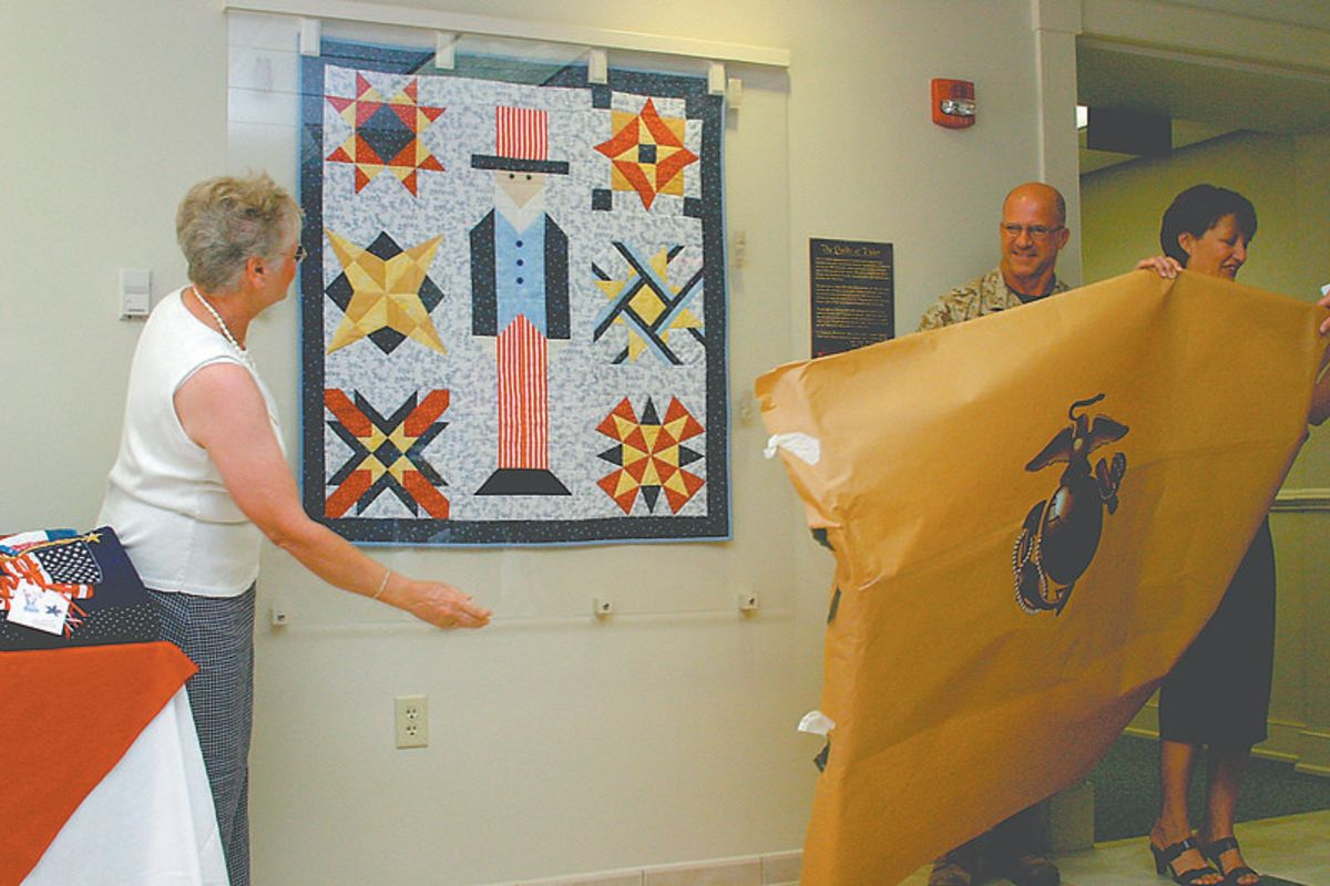 Quilt guilds often make projects to donate to charitable causes.