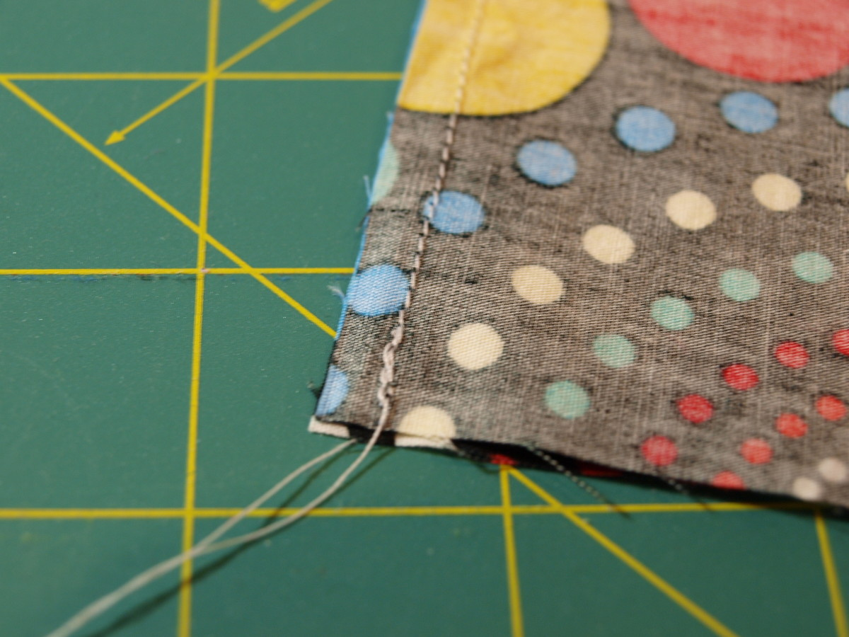 Step Three: Sew down two sides.