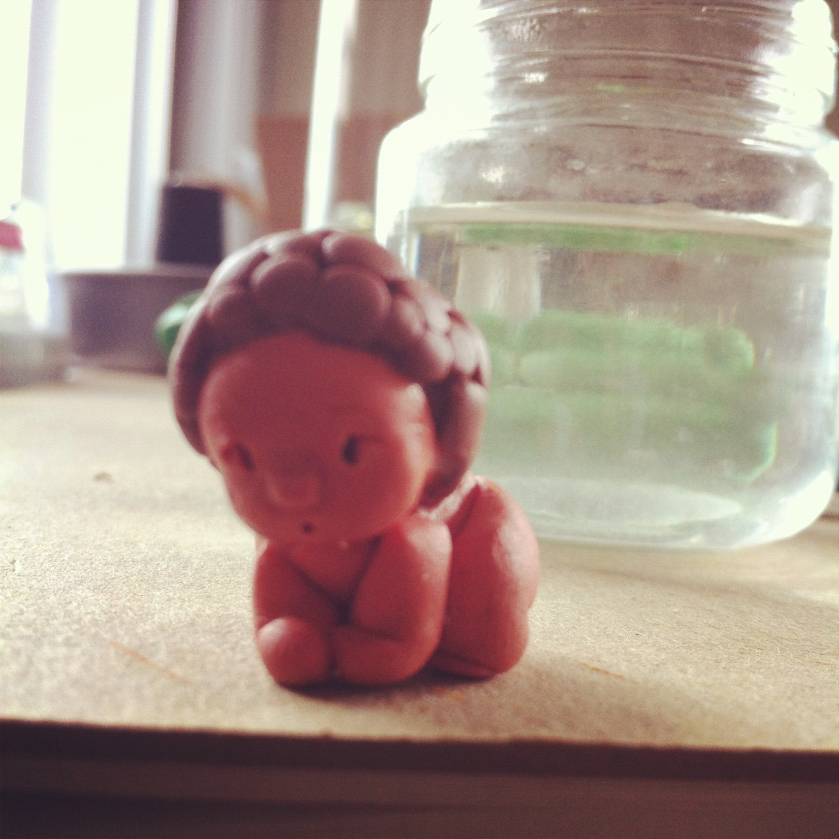 Polymer Clay Baby Charm