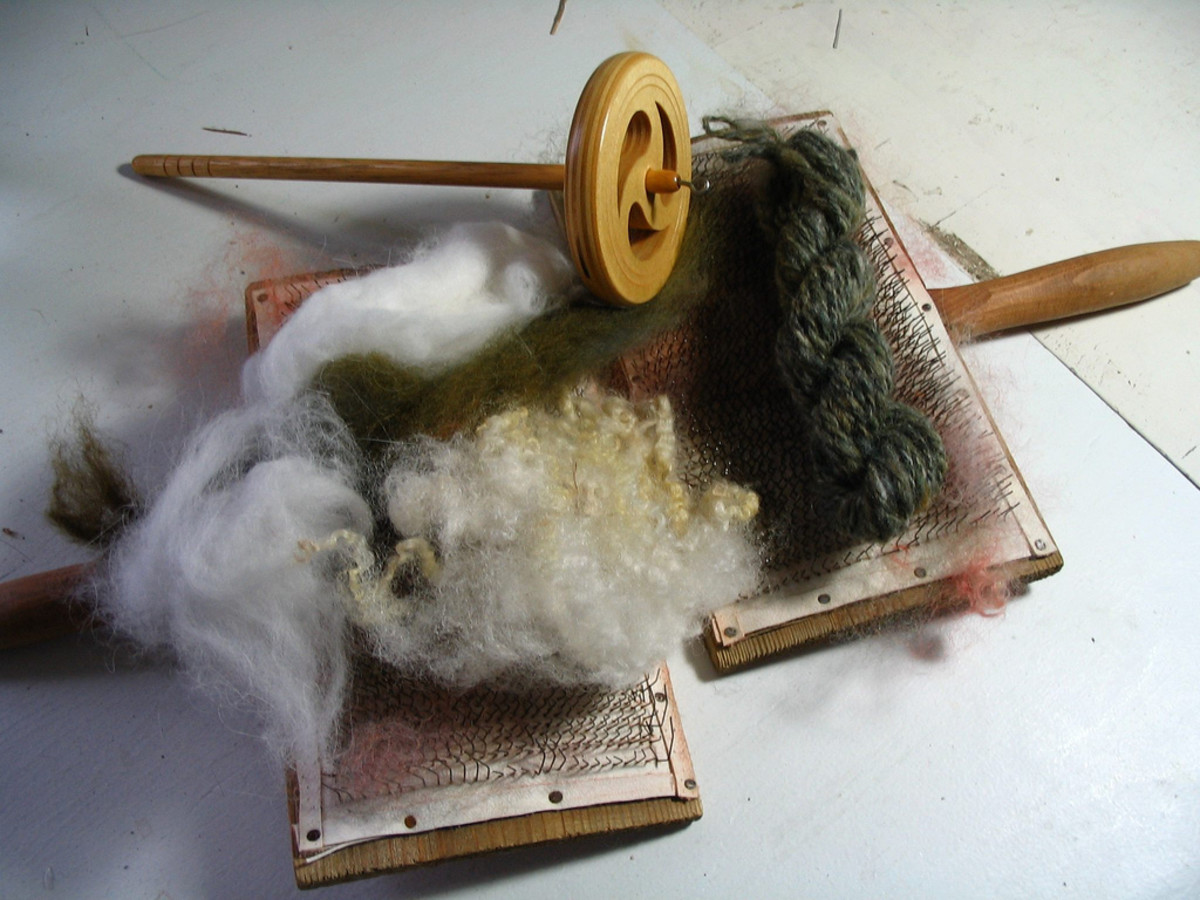 Carding Brushes and Spindle