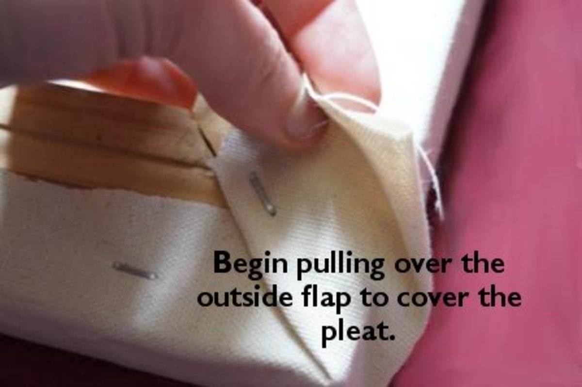The outer flap will eventually cover all the seams.