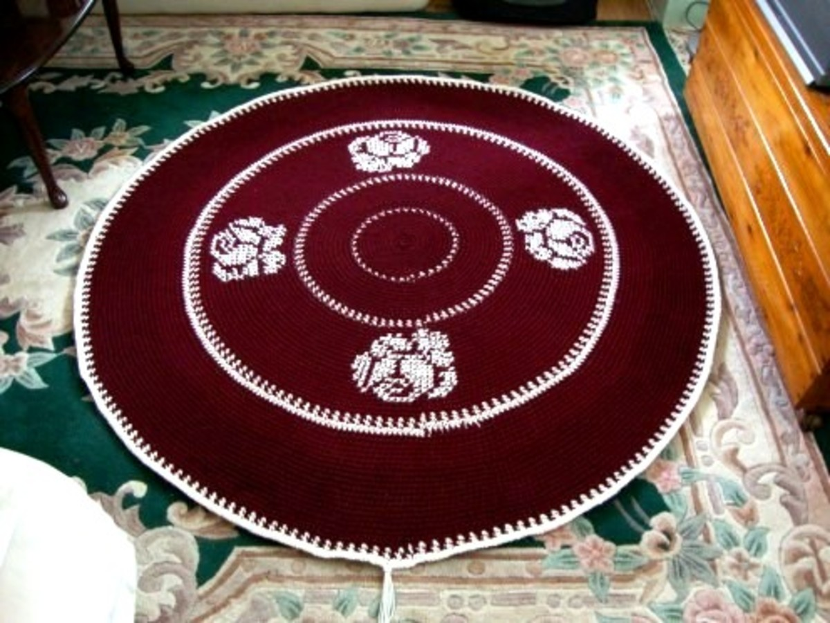 Adding Tassels  to my Rug