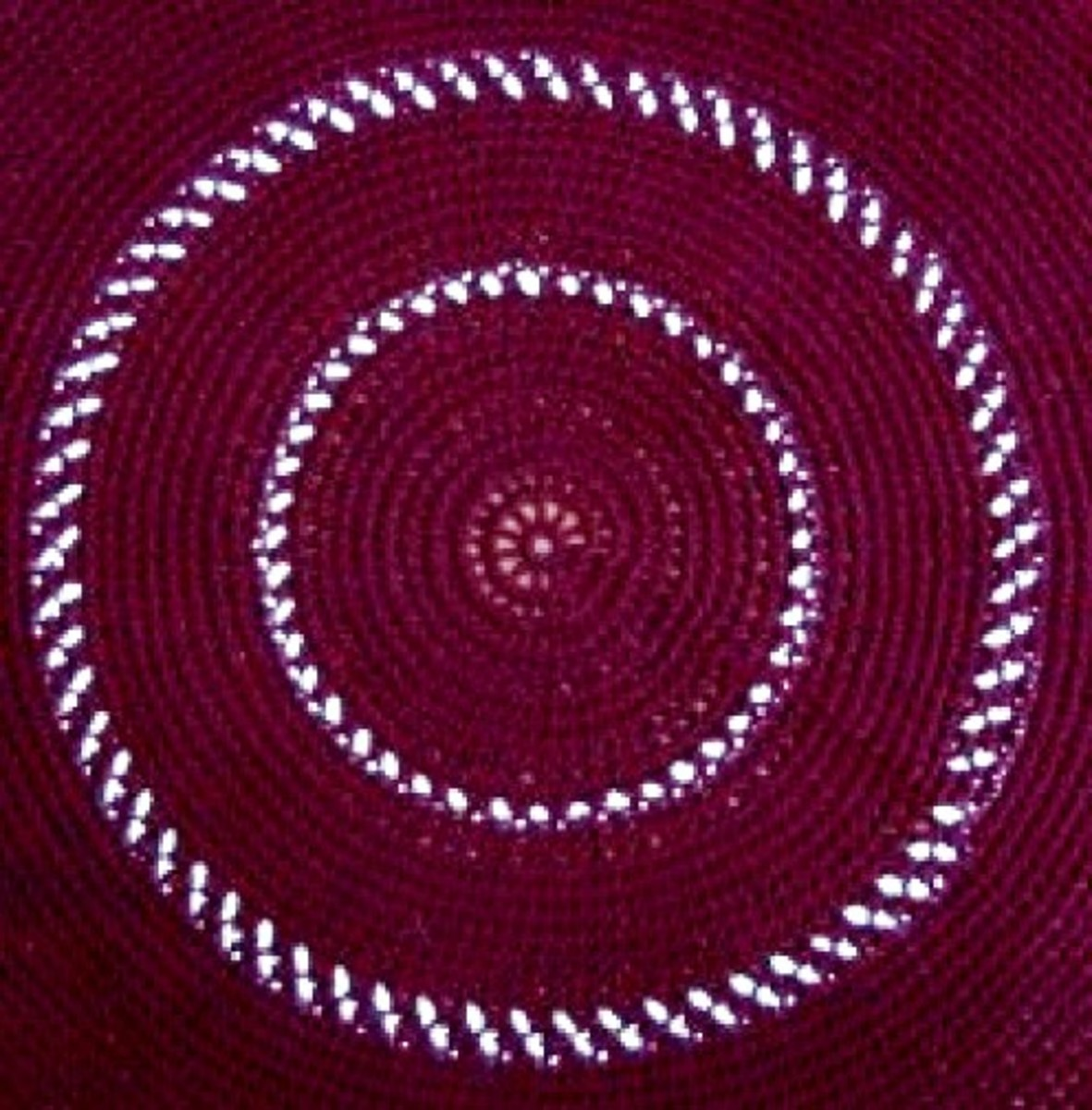 Alternating Rows in Crochet, Using Two Strands
