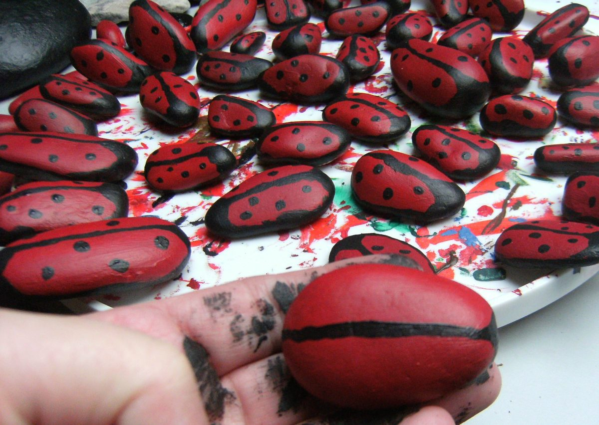 My Ladybirds Painted on Rocks