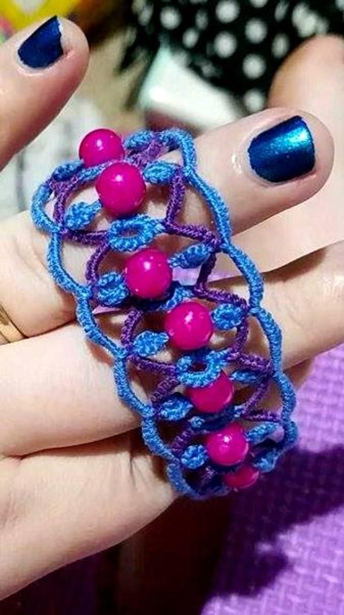 Trendy beaded bracelet.