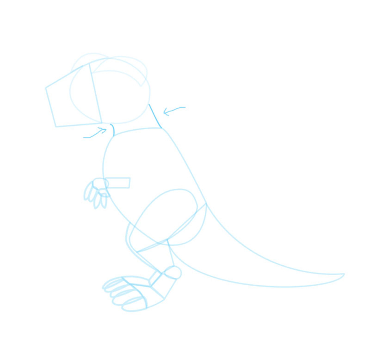 how-to-draw-a-cartoon-t-rex