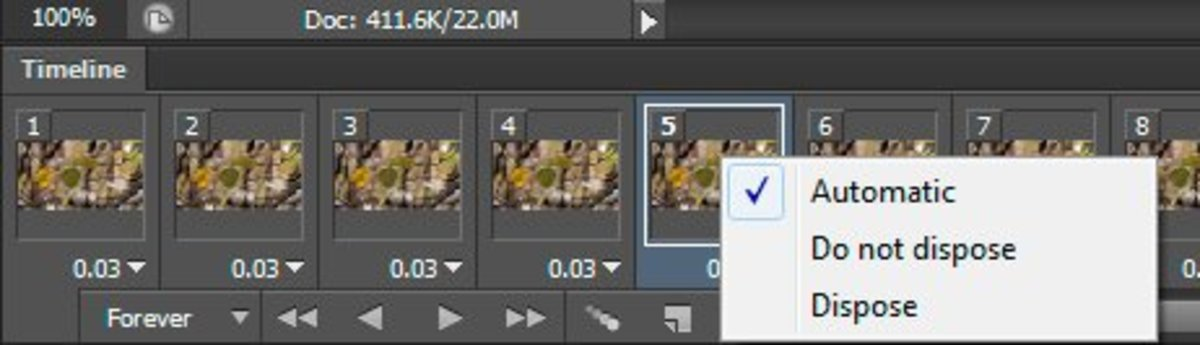 Editing specific frames in Photoshop