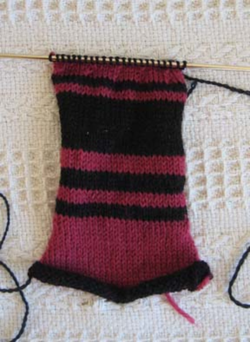 Comfort Doll is made from a knitted rectangle.
