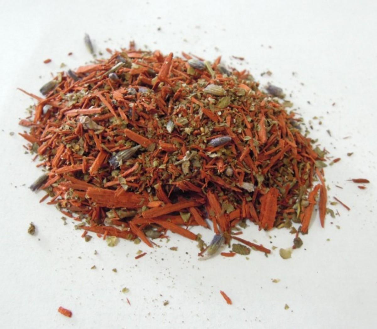 Loose incense blend - Relaxing, made using Sandalwood, Lavender and Marjoram