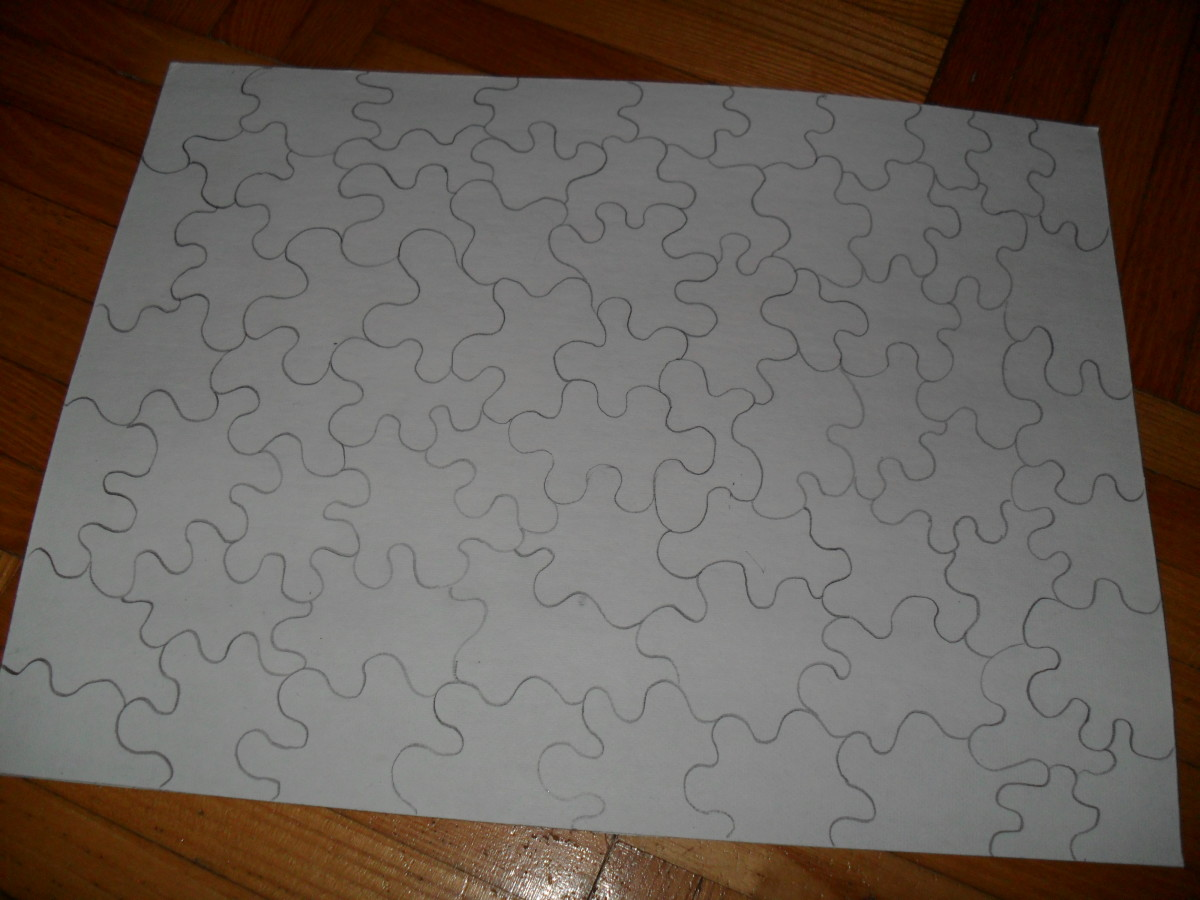 Making a homemade puzzle