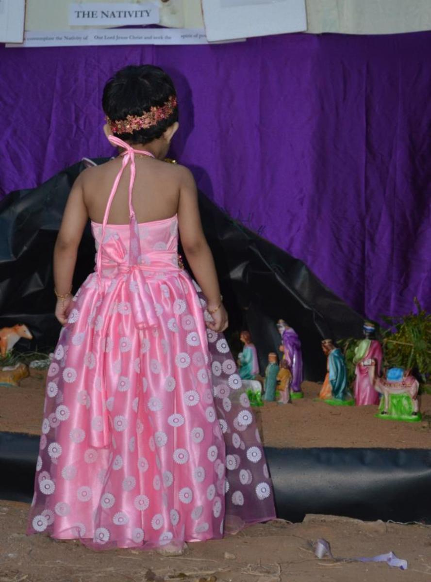 Anna in her long frock (back portion)
