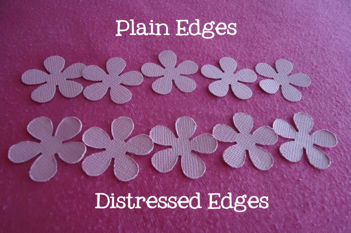 distressed edges vs plain edges