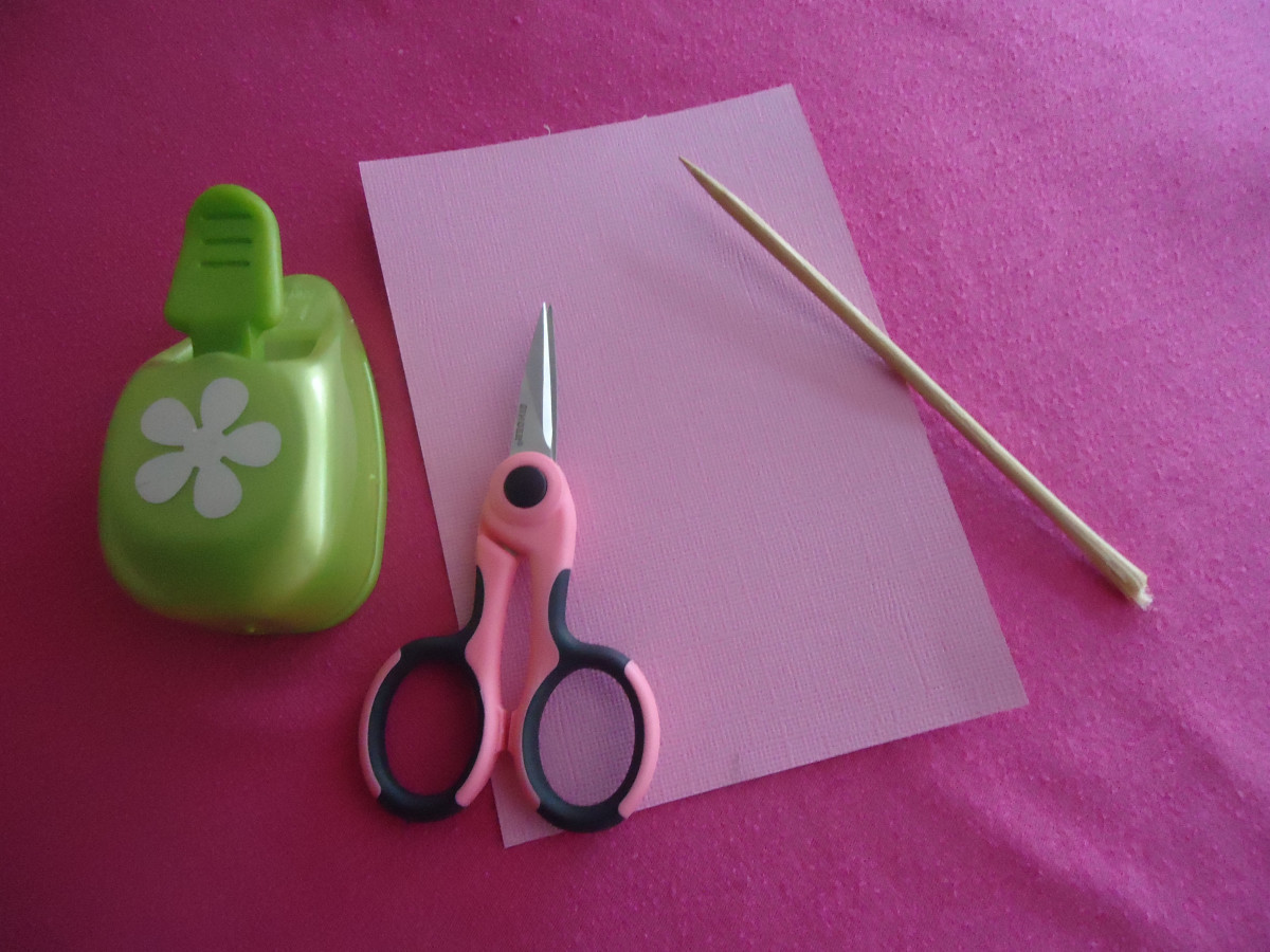 Supplies for handmade paper roses