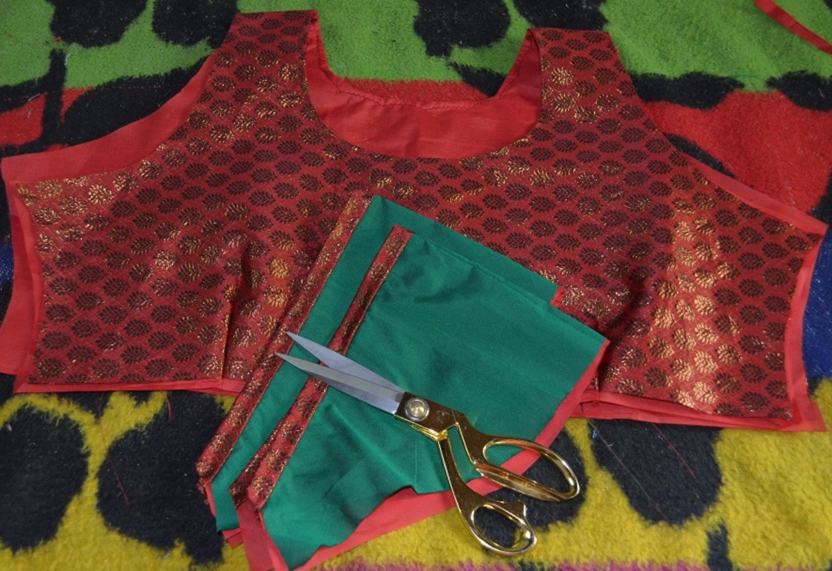 Sew the sleeves and top portion