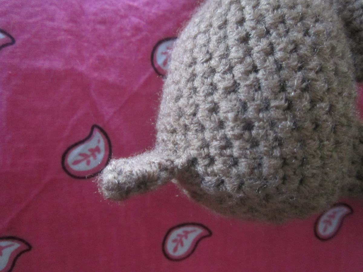 Sewn on tail