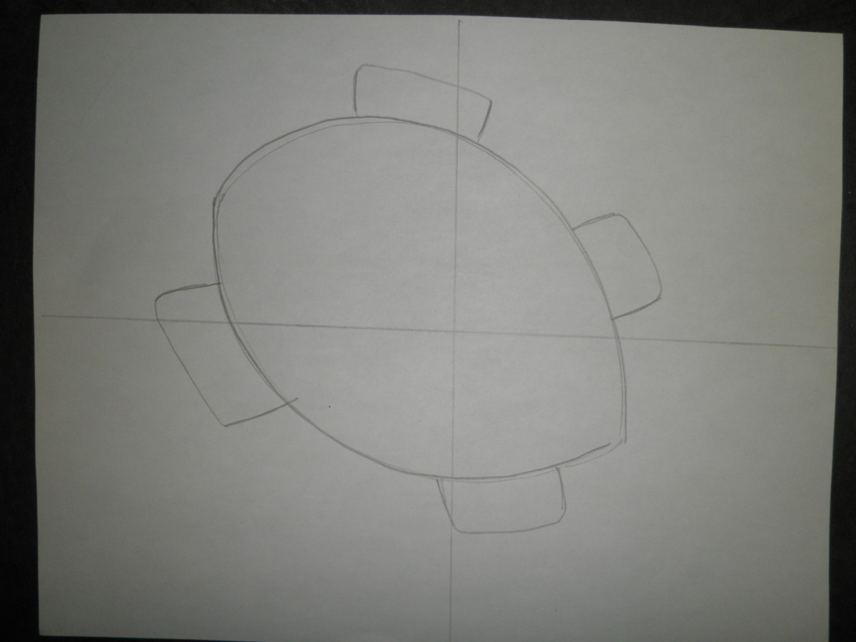 Step 2: How to draw a sea turtle