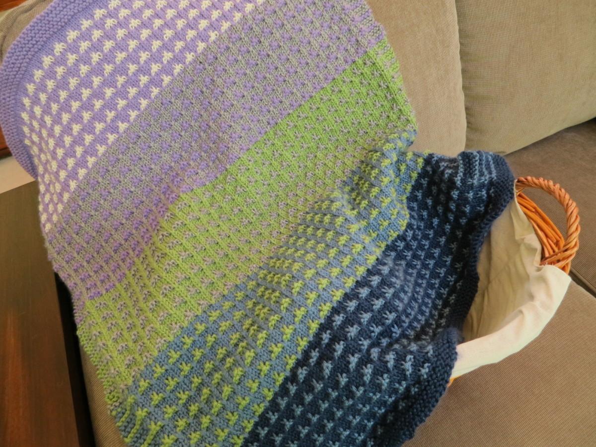 Color field baby blanket