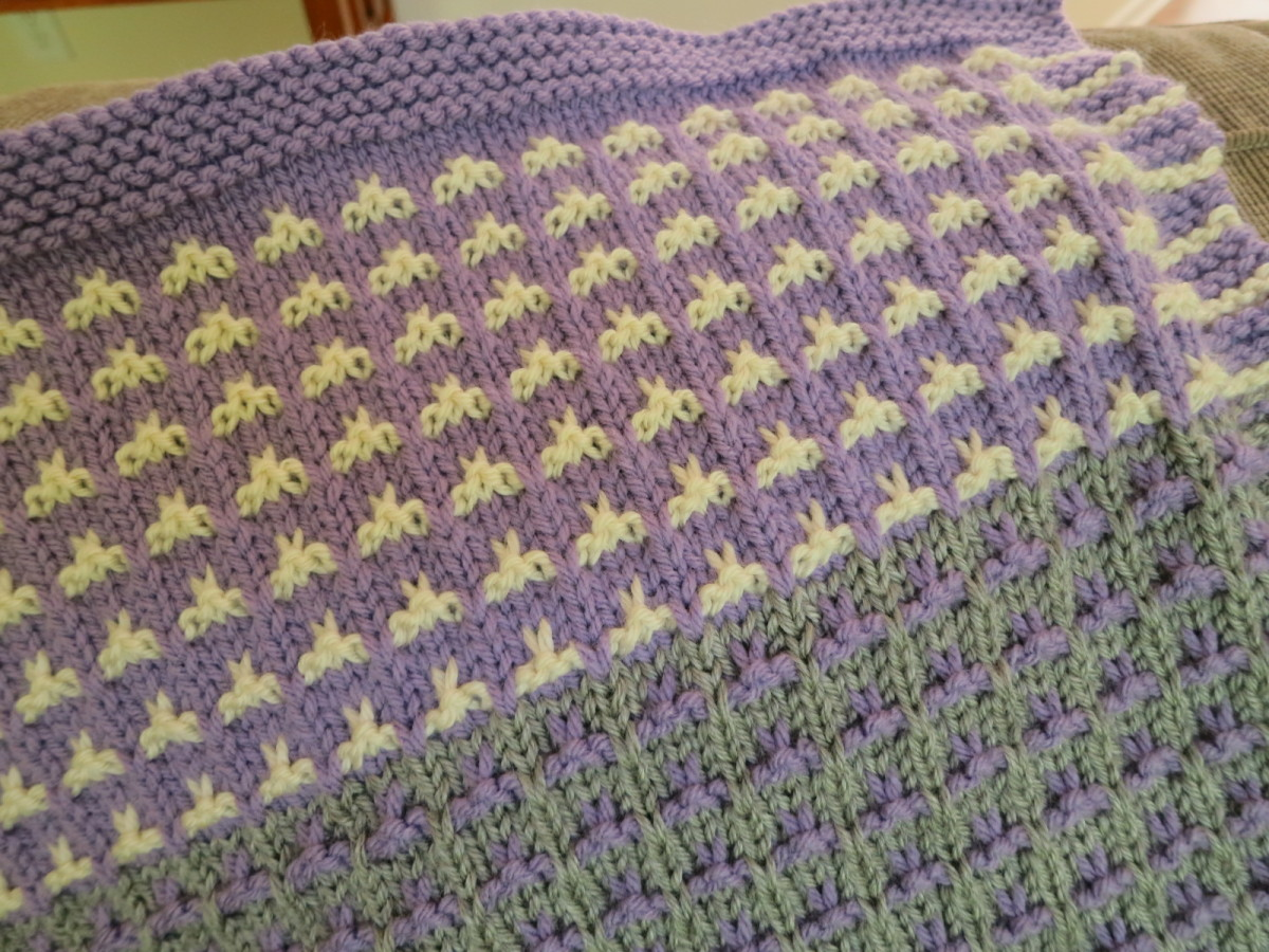 Detail of Color Field Baby Blanket knitting pattern