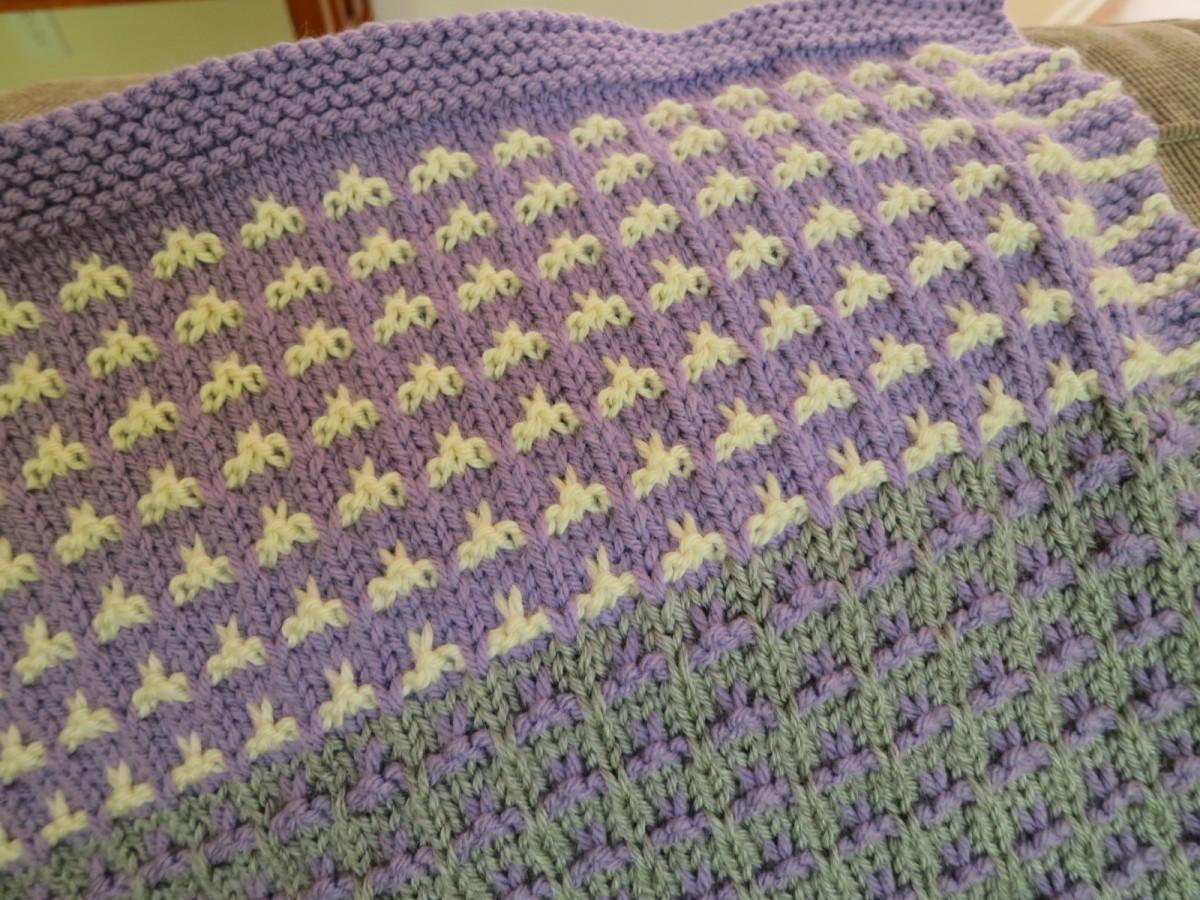 Detail of color field baby blanket
