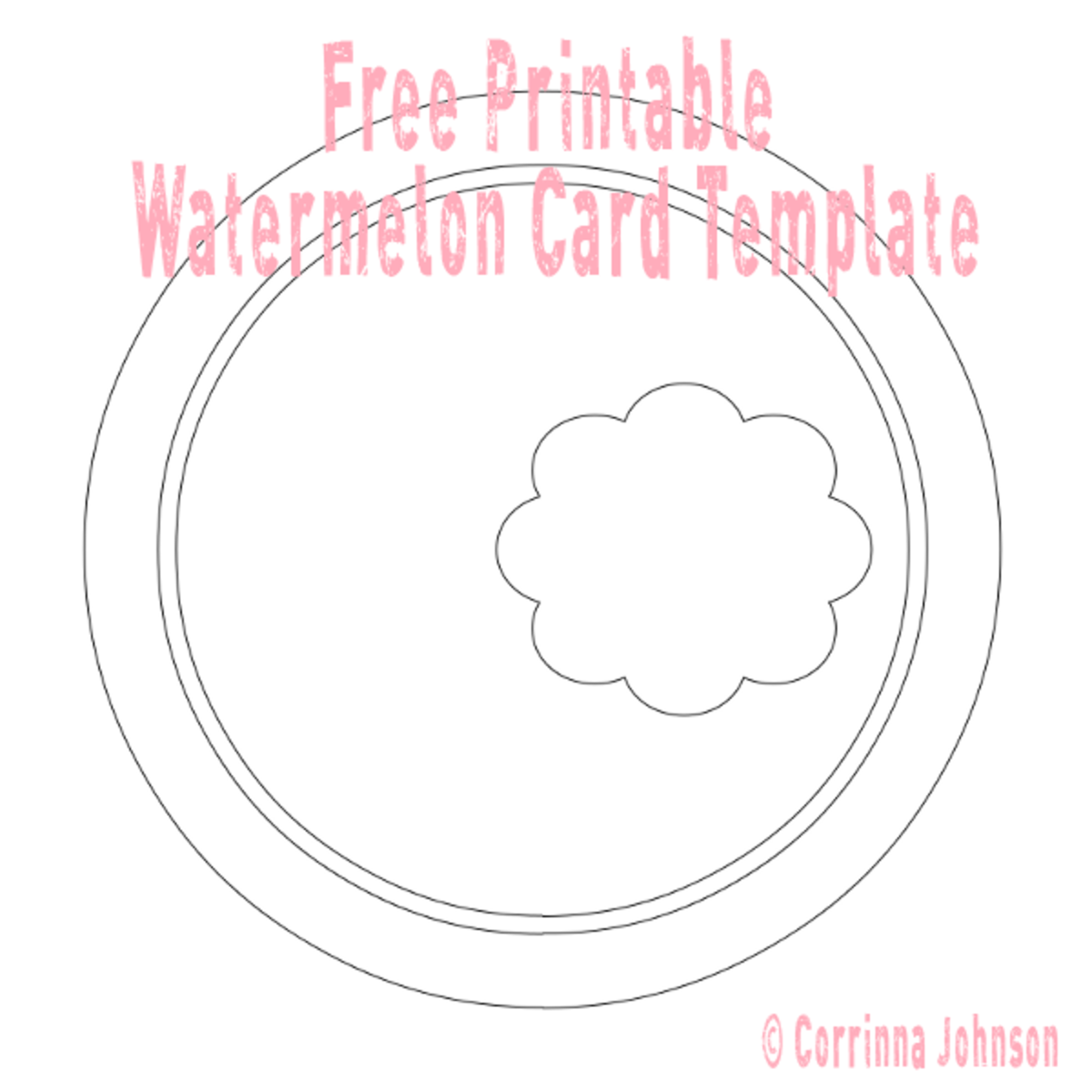 Watermelon Card Free Printable Template