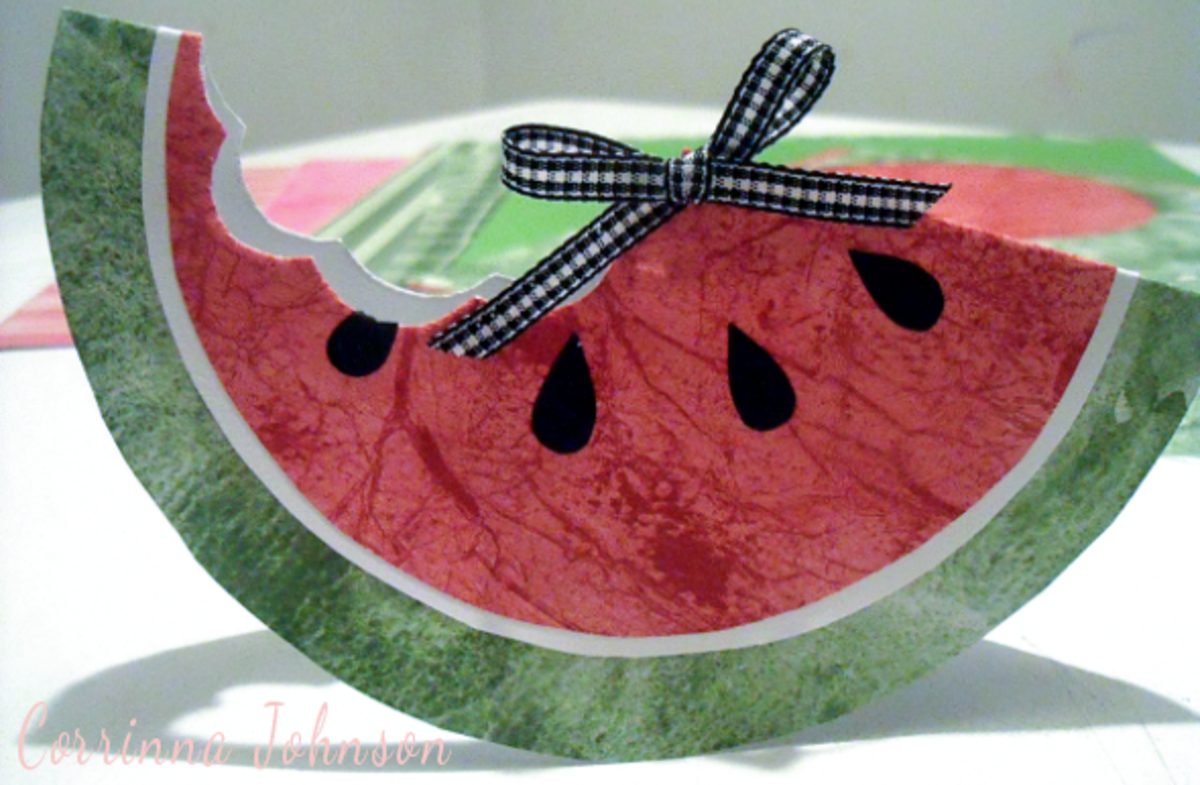 Summer Paper Crafts: Watermelon Card