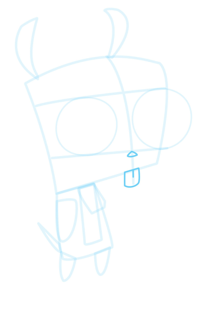 how-to-draw-gir-from-invader-zim