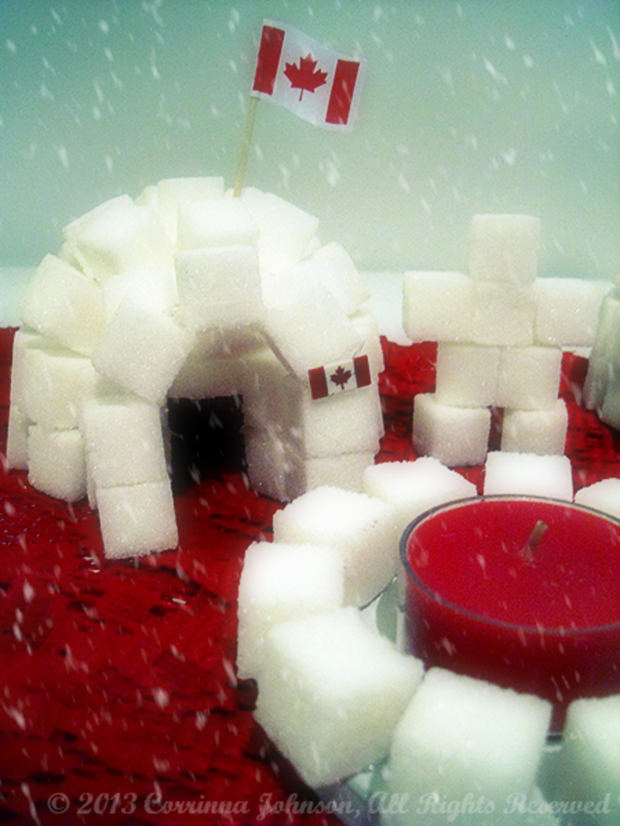 You Can Even Make a Sugar Cube Fire Pit and a Couple of Inukshuk Statues to Go Along with the Igloos