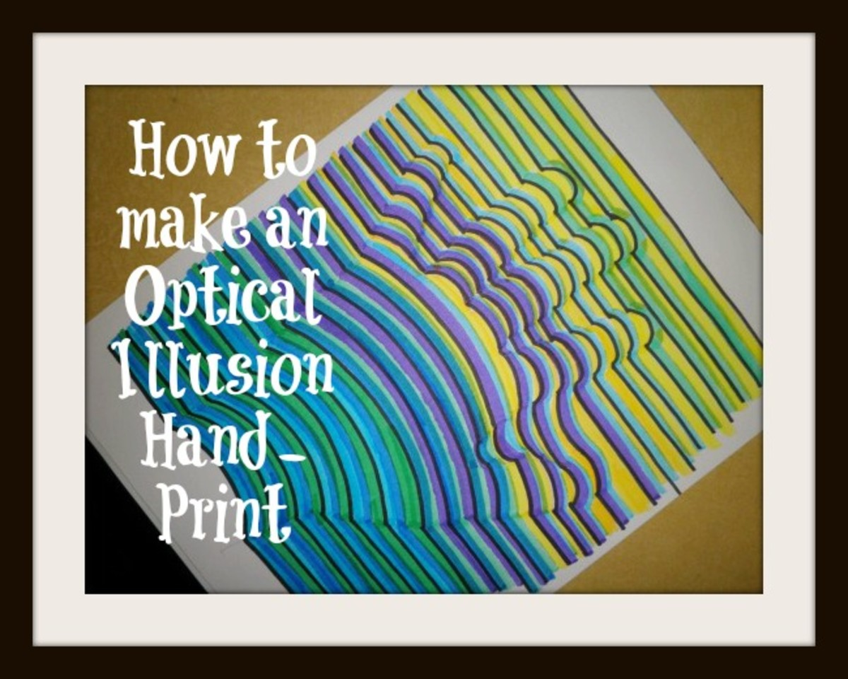 Step by step instructions on how to make this optical illusion hand-print.