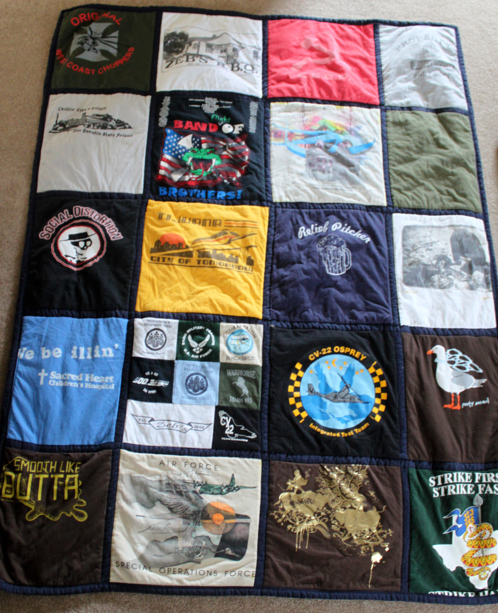 How to make a T-shirt quilt: An easy beginner project.