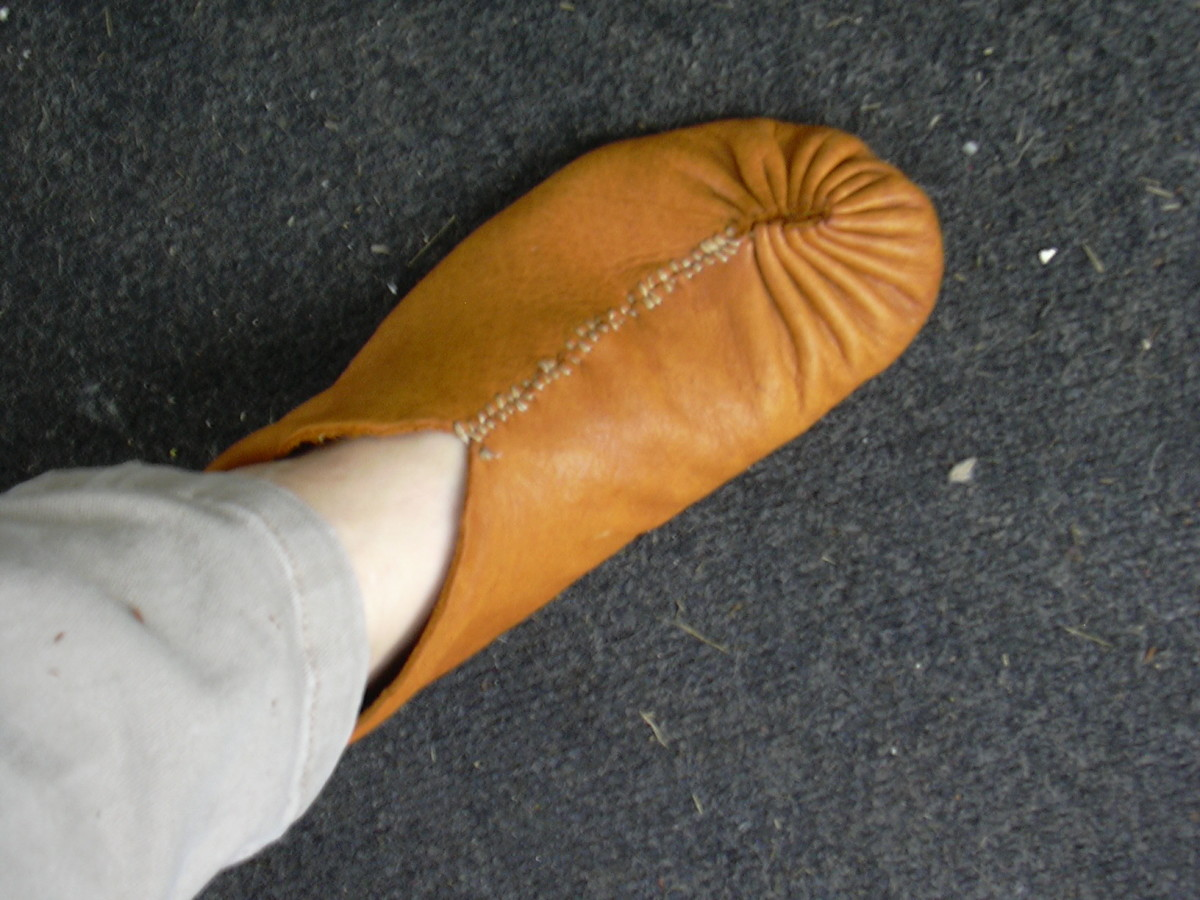 I Made My Own Buffalo And Elk Leather Moccasins Feltmagnet