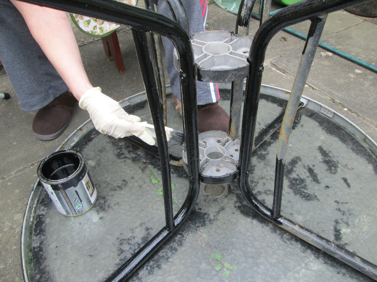 Painting the Table Legs