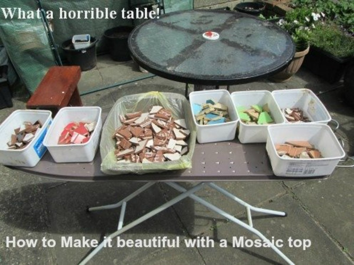 How to Design a Mosaic Table Top With Ceramic Tiles