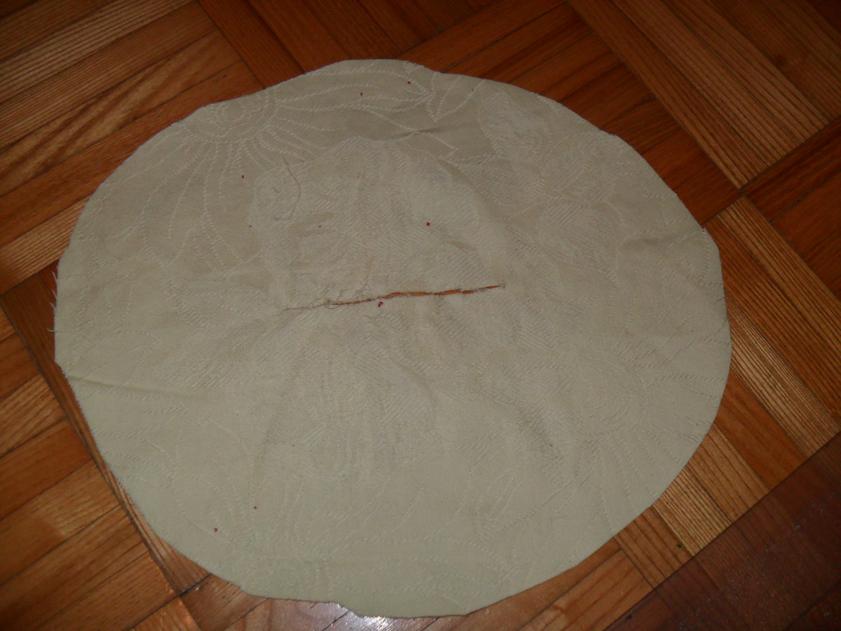 Cut a slit in the center of the circle to create a skirt.