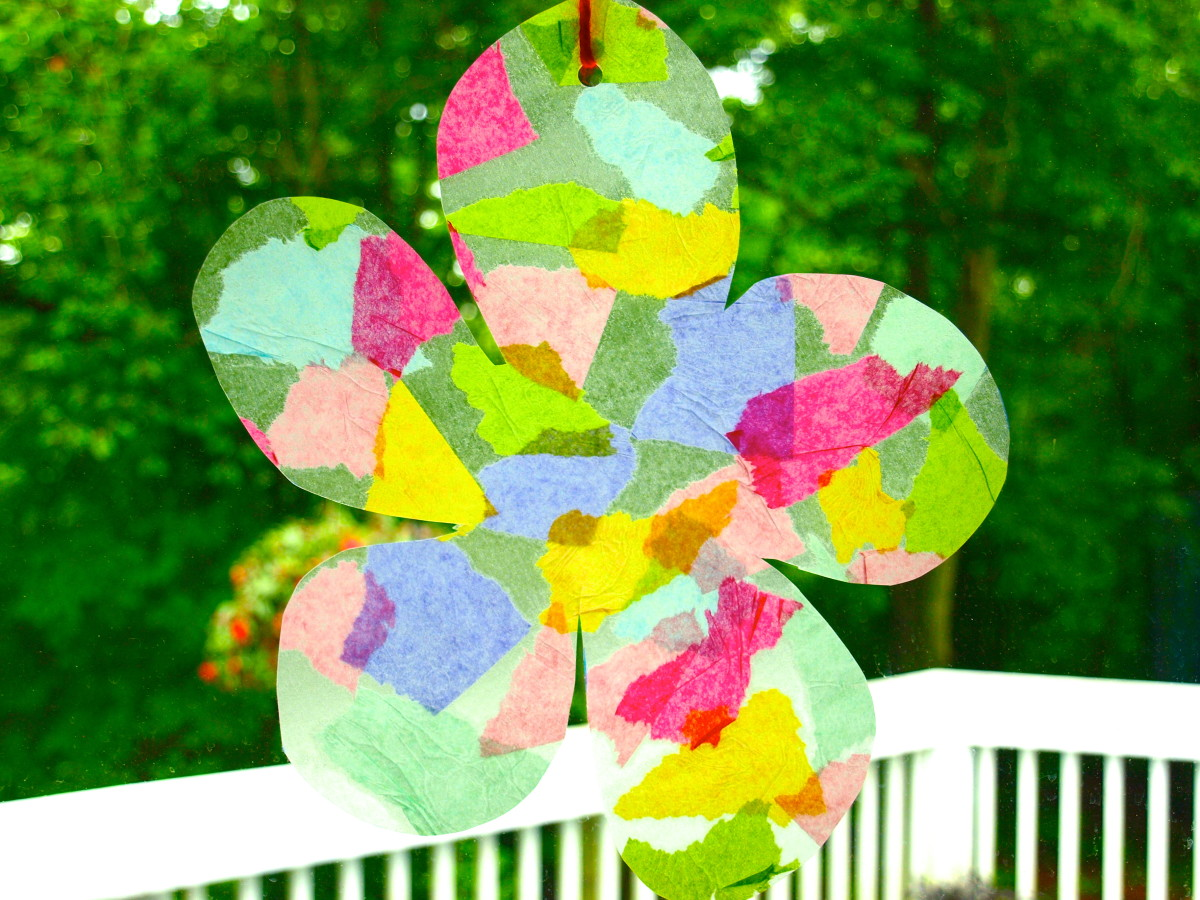 A cute suncatcher craft.
