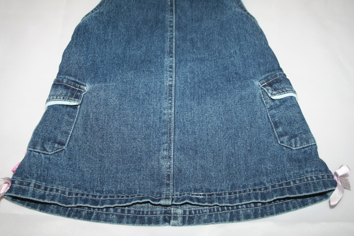 This is a denim dress photographed before I adjusted my exposure settings.