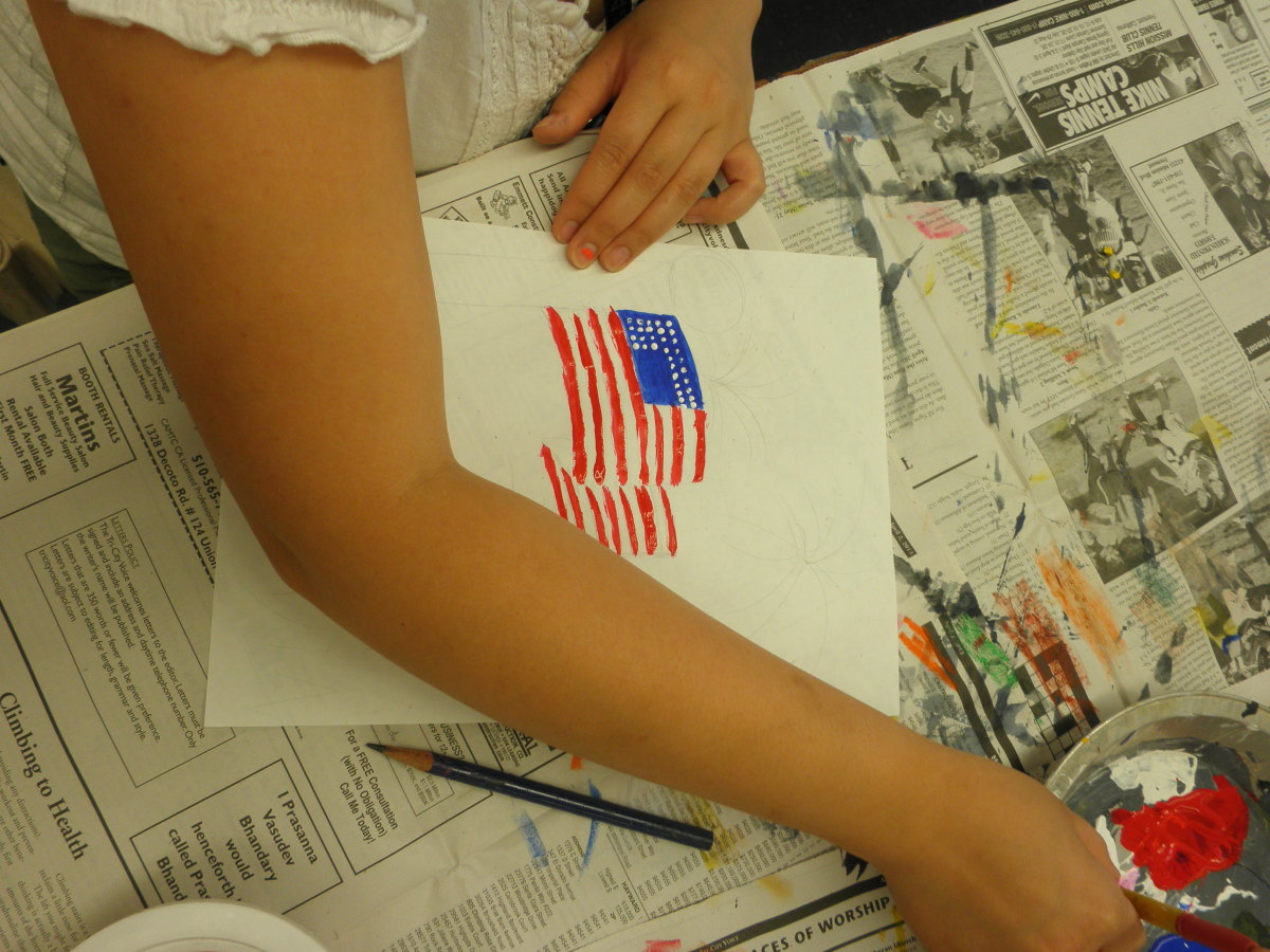 How to paint an American Flag - 4th of July