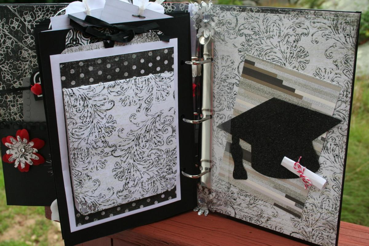 creating-a-graduation-scrapbook-album-for-a-gfit