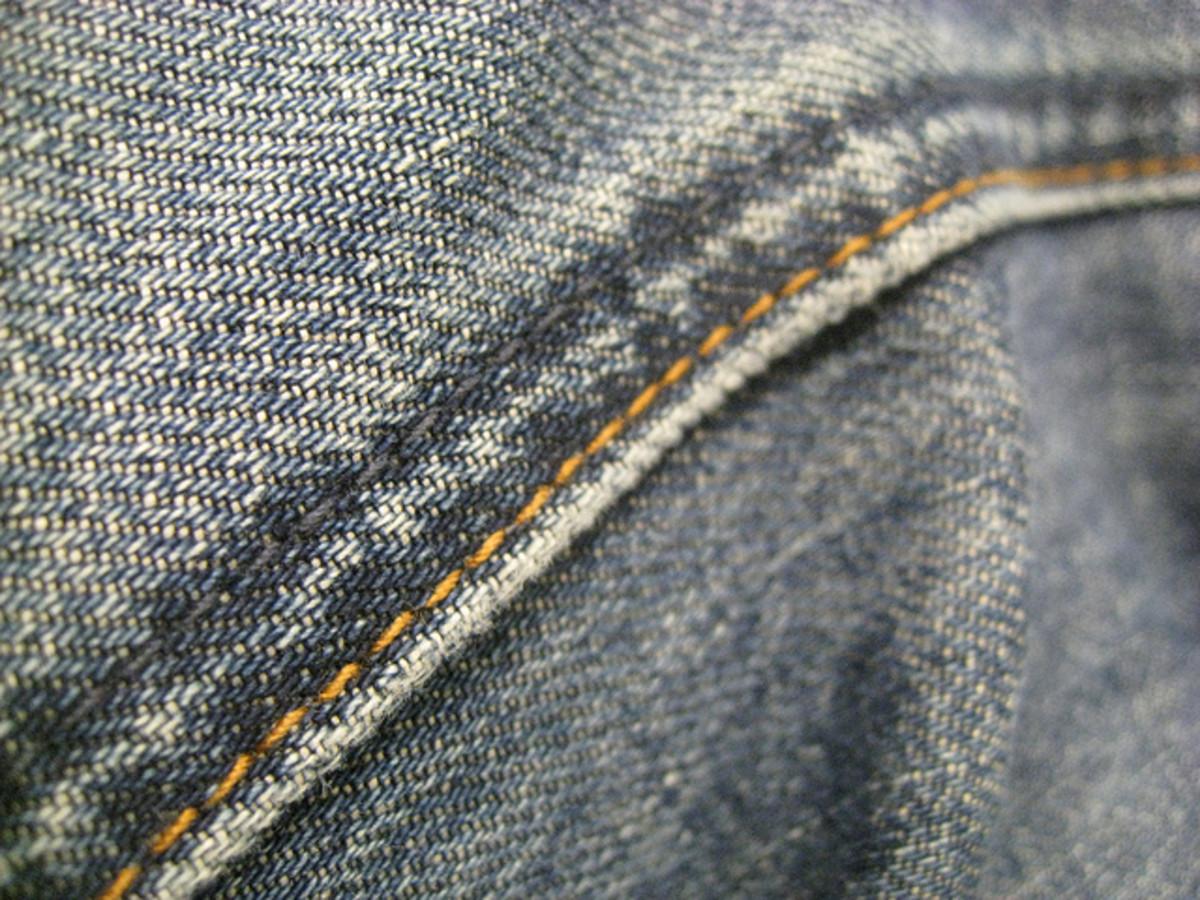 Seams may not accept textile dye