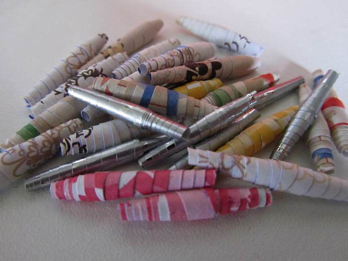 Paper beads can be made with a variety of papers.