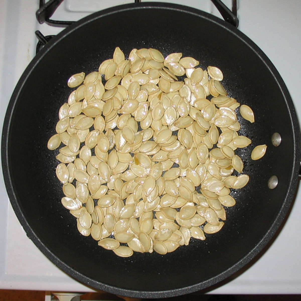Pumpkin and other seeds can be used to create beads for jewellery.
